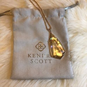 Kendra Scott Carole Pendant Necklace Rose Gold